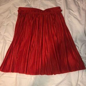 H&M coral midi skirt